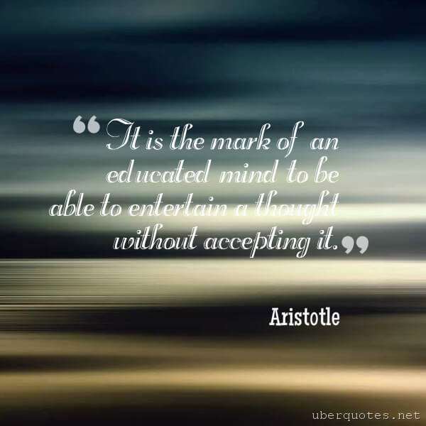 Education quotes by Aristotle, Book quotes by Aristotle, UberQuotes