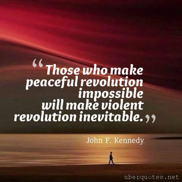Peace quotes by John F. Kennedy, UberQuotes
